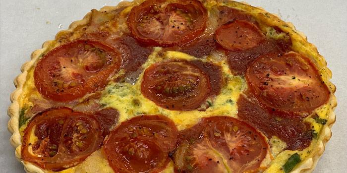 Bacon, Tomato & Relish Quiche (small)